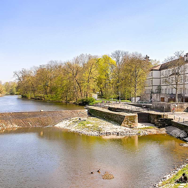 Wehr und Schleuse - Rotenburg a.d. Fulda